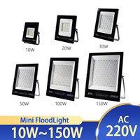 Reflector LED impermeable IP67 para exteriores, proyector de iluminación para jardín y pared, CA de 220V, 10W, 20W, 30W, 50W, 100W y 150W