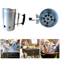 Grill Home Camping Chimney Starter Outdoor Charcoal With Handle Carbon Stove Ignition Fire Barbecue Tools Fast Anti Slip