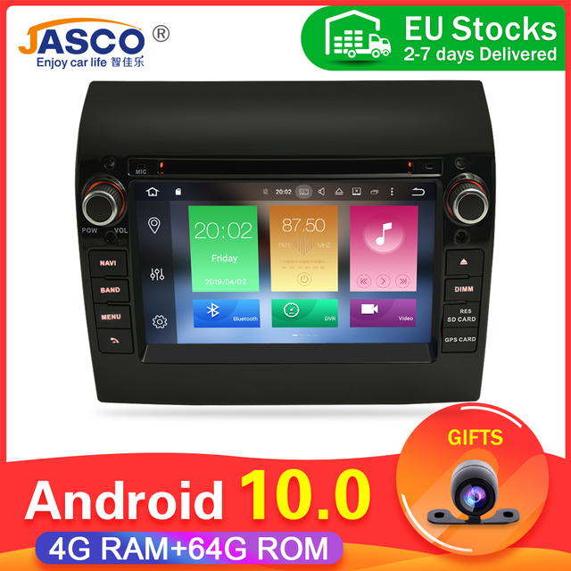 Ram 4G  64g Android 9.0 10.0 Car Stereo For Fiat Ducato Jumper Boxer 2GB RAM DVD Headunit Bluetooth GPS Navigation TDA7851