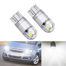 2x Canbus voiture 3030 SMD T10 | Objectif de projecteur W5W lampe lumineuse automobiles pour Opel Astra h j g Corsa Zafira Insignia Vectra b c d(China)