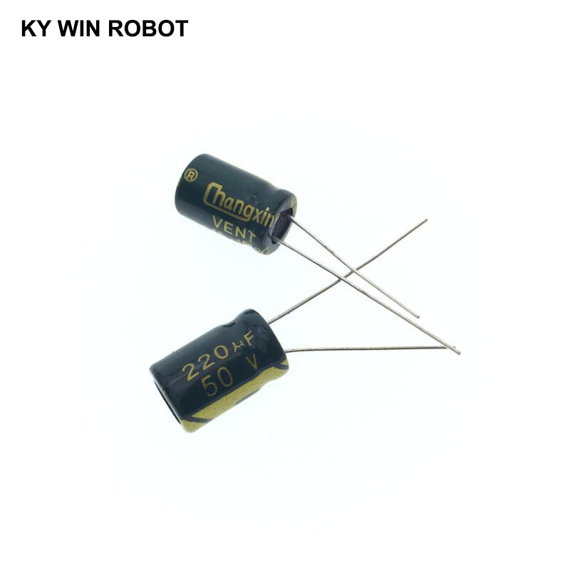 50pcs Electrolytic capacitor 50V 220UF 8*12mm