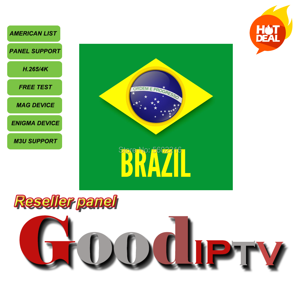 Good IPTV Brazil Subscription M3u Panel Abonnement USA Latin Portugal Android Smart TV Box Enigma2 APK