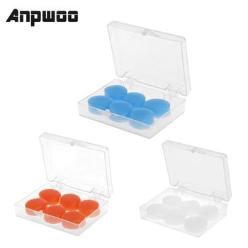 ANPWOO 6PCS Earplugs Protective Ear Plugs Silicone Soft Waterproof Anti-noise Earbud Protector Swimming Showering Water Sports - discount item  21% OFF Workplace Safety Supplies