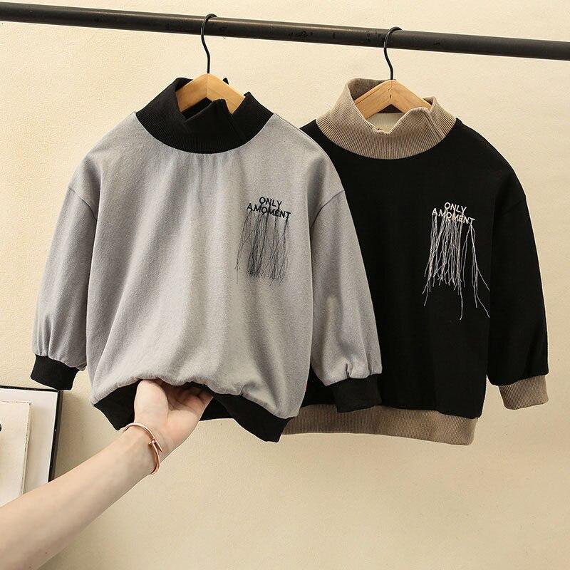 Boy Fleece Sweatshirt Clothing Baby-Boys Luxury Kids Fashion Cotton for Spring Autumn