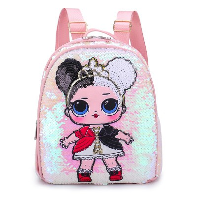 Child Baby Kids Cartoon Backpack Bling Sequin Shoulders Bag Backpack School Bags Bling Messenger Travel Backpack 4 Colors