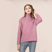 CHRLEISURE Casual Sweater woman Solid Thicken warm sweaters High-necked Round neck Autumn Winter feminine Knitted