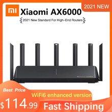 2021 novo xiaomi roteador ax6000 wifi6 aiot roteador 6000mbs vpn 512mb qualcomm cpu malha repetidor de sinal externo amplificador rede m