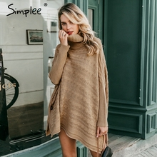 winter split knitted poncho