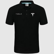 Высокое качество, логотип crocodil Tesla, логотип Polo, классический бренд, Мужская рубашка поло, мужская повседневная однотонная хлопковая рубашка поло с коротким рукавом f