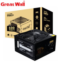 Great Wall Power Supply 600W Source 80 Plus Bronze 24pin PSU 120mm Fan 12V Power Supplies for PC APFC Computer Power Supply Unit