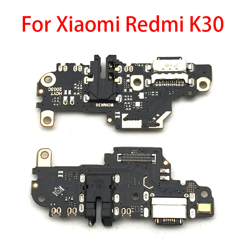 USB Charging Dock Port Charger Connector Board Flex Ribbon With Mic Microphone Autio Jack For Xiaomi Redmi K30