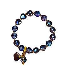 Женский браслет «Аврора борелис» с кристаллами
