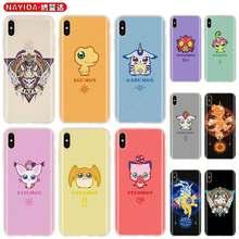 Tpu macio caso para iphone 12 mini 11 pro xs max xr x 8 7 6 plus 5S se s capa anime digimon 2020