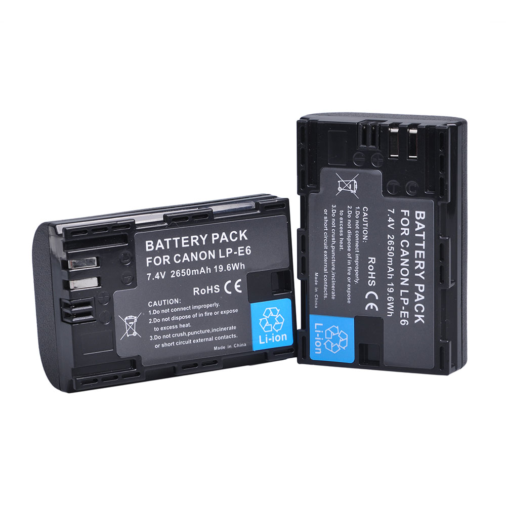 LP E6 LPE6 LP-E6 E6N Battery 2650mAh For Canon EOS 5DS R Mark II 2 III 3 5D Mark II III IV 6D 60D 60Da 7D 7DII 70D 80D Camera
