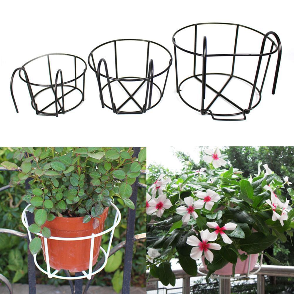 Pot de fleurs en fer porte-pots de fleurs   Porte-panier, artisanat bricolage, support de planteur de fleurs pour jardin et balcon, décoration de la maison
