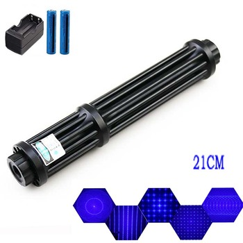 Powerful Burning Blue Laser Torch 445nm 10000m Multifunction Focusable Laser Sight Pointers Flashlight Burn Match most powerful 2000000m 200w blue laser pointers 450nm lazer flashlight burning match burn light cigars candle black hunting