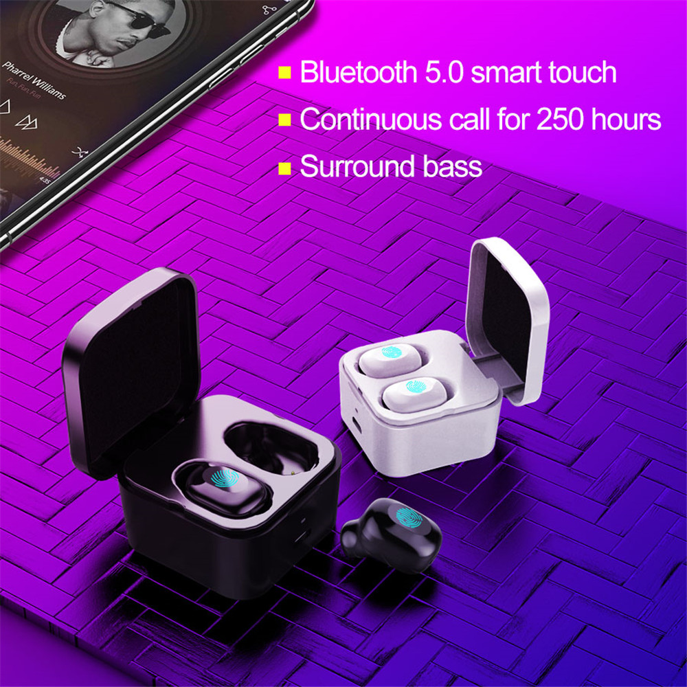 True Wireless <font><b>TWS</b></font> Headphone Sport Earbuds Bluetooth 5.0 HiFi Earphones Mini In-Ear 3D Stereo Waterproof Headset image