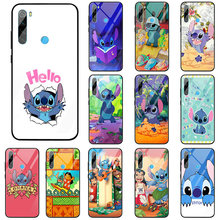 Cartoon Lilo And Stitch Tempered Glass Phone Cases Cover for