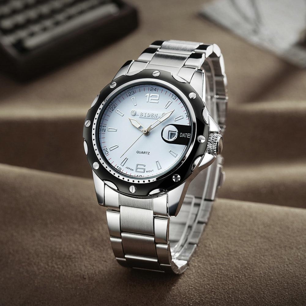 Dress Men Watches 2019 Luxury Brand Military Quartz Waterproof Date Watch Stainless Steel Strap Fashion Sports Male Wristwatch