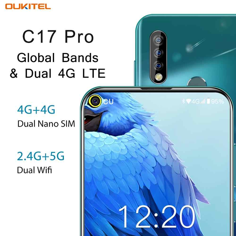 Oukitel C17 Pro Smartphone 4G RAM 64G Rom 6.35 ''Android 9.0 Octa Core 4G LTE Ba camera Mặt ID Vân Tay Điện Thoại Di Động