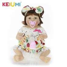 купить Newest Reborn Baby Dolls 23 Inch Full Silicone Vinyl Body Lifelike Newborn Girl Doll For Children's Day Gifts Kids Present по цене 3125.65 рублей