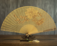 Suzhou Classical Sandalwood Fan Hollow Out Wenwan Gift Fan Arts And Crafts Sandalwood Fan Folding Fan China Wind