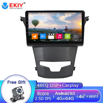 EKIY 9 IPS Touchscreen Octa Core Car Radio For Ssangyong Korando 3 Actyon 2 2014 2015 2016 Multimedia GPS Navigation Player BT image