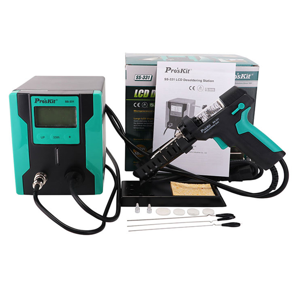 Pro'sKit SS-331H ESD LCD Digital BGA Desoldering Suction Electric Absorb Electric Tin Suction Pump Sleeping Function