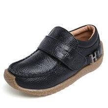 Enfants chaussure garçon enfants été style britannique noir école chaussures enfants robe chaussures à talons bas pour les garçons