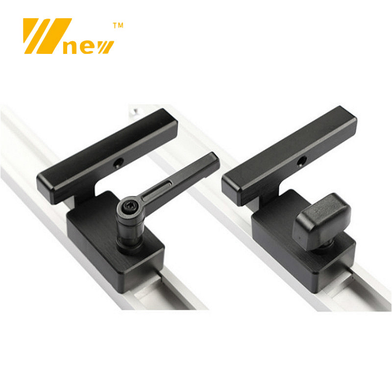 Miter Track Stop T Slot Chute Limiter For T-Track WoodWorking Tools Saw Table Router Table DIY Manual