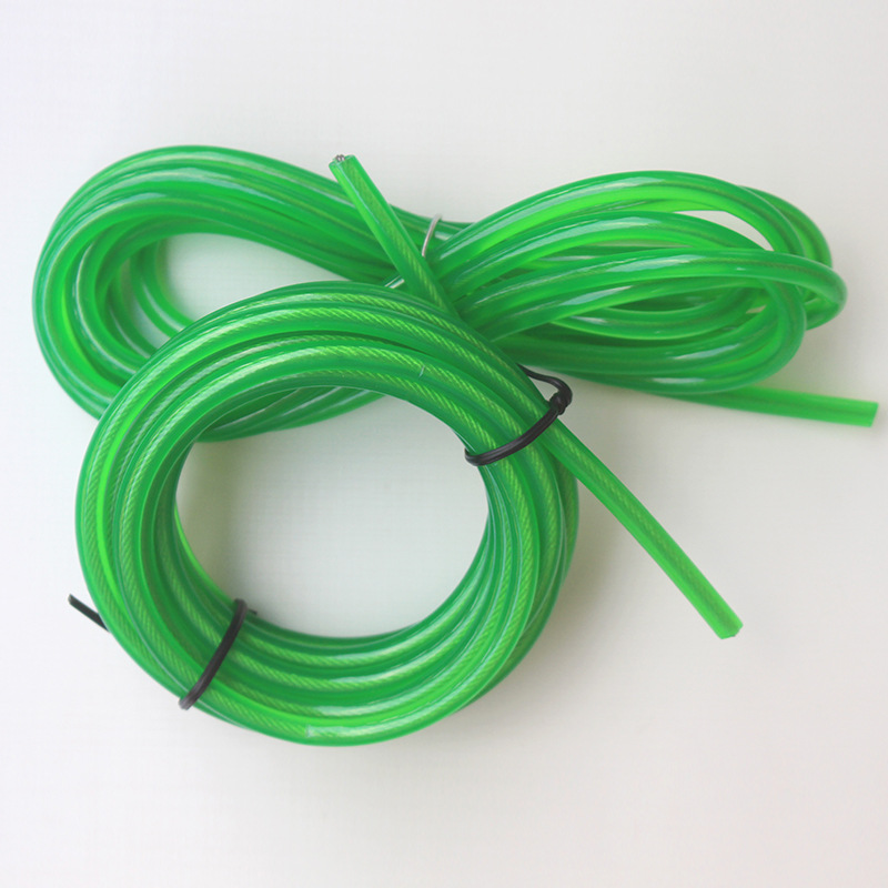 Order Diameter 5.5 Mm Green PVC Cored Jump Rope Pu Jump Rope Cored Rubber Rope Adult's Skipping Rope