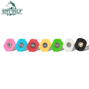 Image 1 - 7 색 금속 노즐 고압 세척기 스테인레스 스틸 퀵 노즐 팁 0 15 25 40 비누 노즐 280bar 4000psi