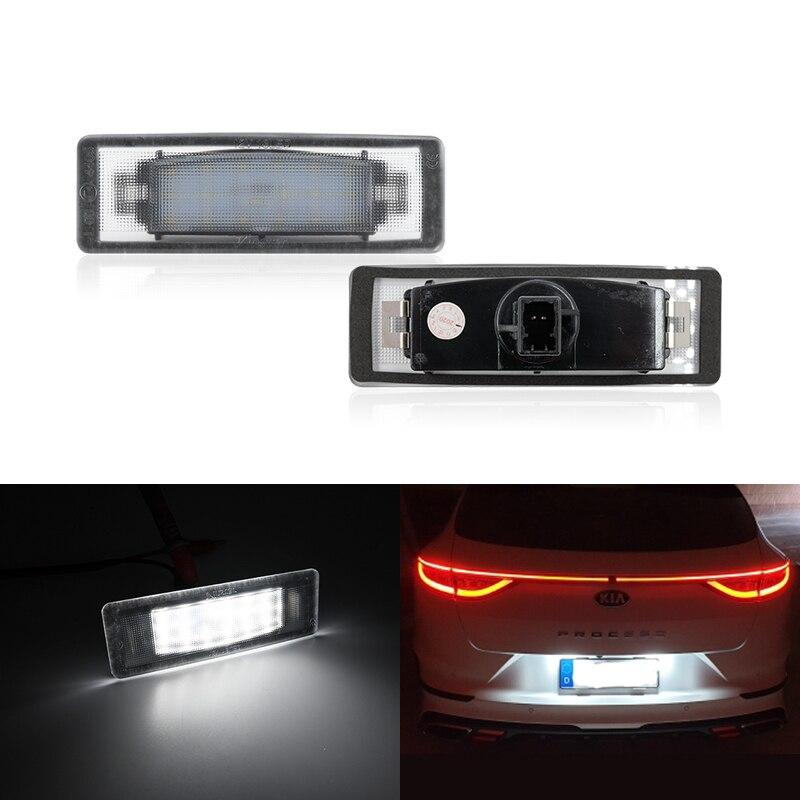2x подходит для Kia Soul SK3 2019 продолжить GT 2019 2020 2021 SMD Canbus без ошибок, белый светодиод, подсветка номерного знака, лампы