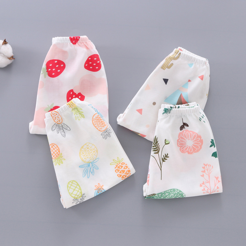 Spring Summer Kids Anti Mosquito Pants Baby Casual Trousers Thin Air Conditioning Pants Baby Pajama Clothing Kids Leggings 2