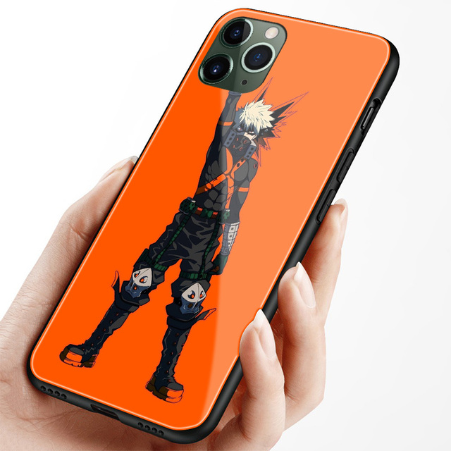 Katsuki Bakugo Boku no héroe Academia suave de silicona de vidrio de cubierta de la caja del teléfono shell para iPhone SE 6 6s 7 7 Plus X XR XS 11 Pro MAX