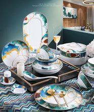 Высококачественный керамический Обеденный набор картина маслом