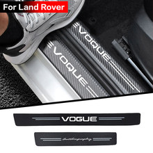 Car Carbon fiber cloth Door Sill Strip for Land Rover DISCOVERY EVOQUE SPORT SV VELAR VOGUE Autobiography accessories styling