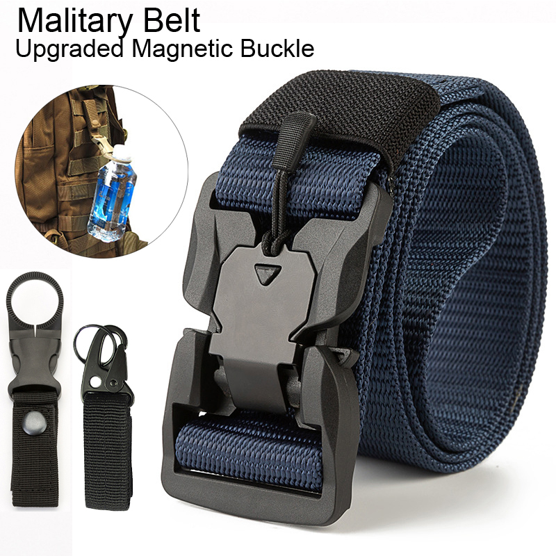 Casual Tactical Accessories Waist Belts for Men Military Belt Molle Outdoor Magnetic Buckle Combat Belt Hiking Army Police Hunt