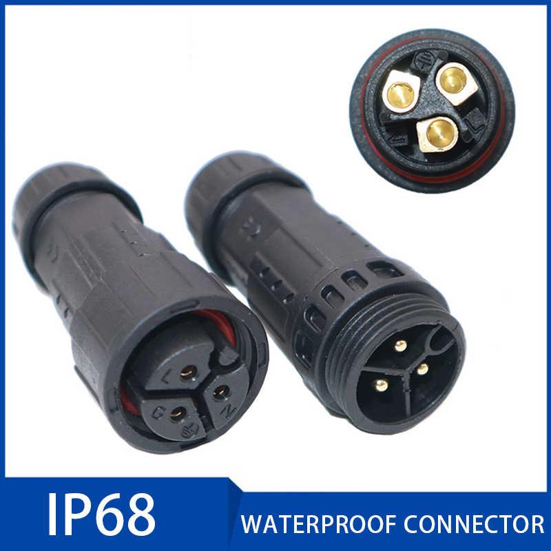 Conector a prueba de agua IP68 M19, tornillo Conector de Cable eléctrico, enchufe de bloqueo, enchufe Conector 2 3 4 pines 7-10,5mm, caja de empalme de alambre