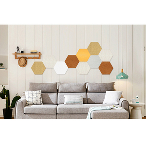 HOT Hexagon Pad Cork Board/Pin Board 1 Pc Colorful Wall Tiles Memo Felt Board For Wall Stickers Home Decors