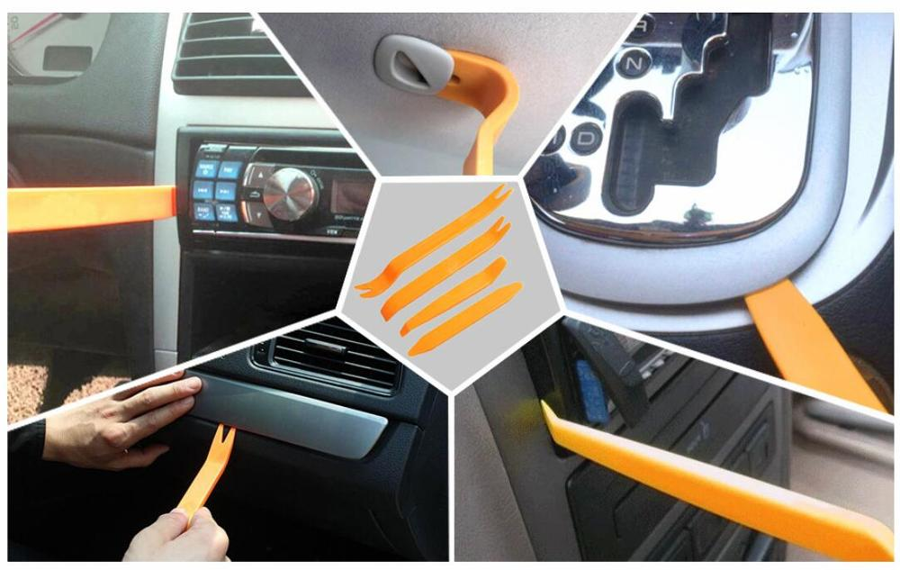 4Pcs Car Door Clip Repair Tools Audio Video Dashboard Dismantle Kits Plastic Installer Pry Opening Tool Trim Panel Removal Tools