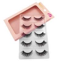 New 5 pairs eyelashes mink strip lashes eyelashes maquiagem false eye lashes natural long 3d mink eyelashes faux cils for makeup