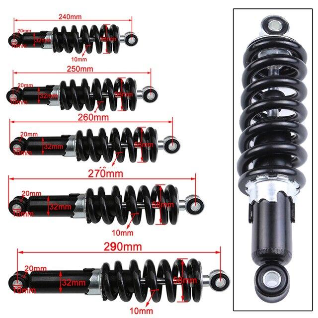 Amortiguador Universal para motocicleta protección de suspensión trasera, 240/250/260/270mm, 290 libras