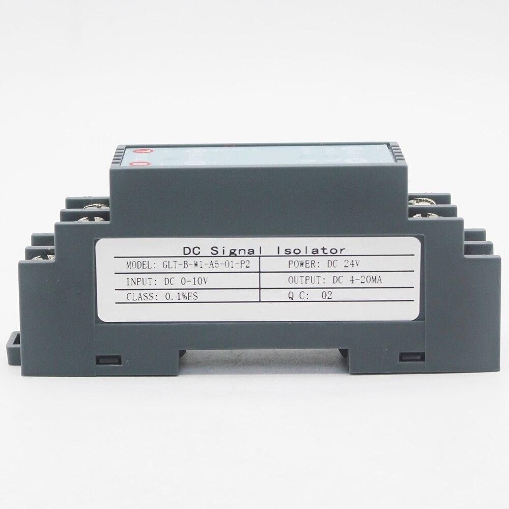 Передатчик напряжения и тока постоянного тока 1 дюйм 1 выход DC -10 В-+ 10 В или-10 А-10 А изолятор входного сигнала передатчик преобразователь спли...