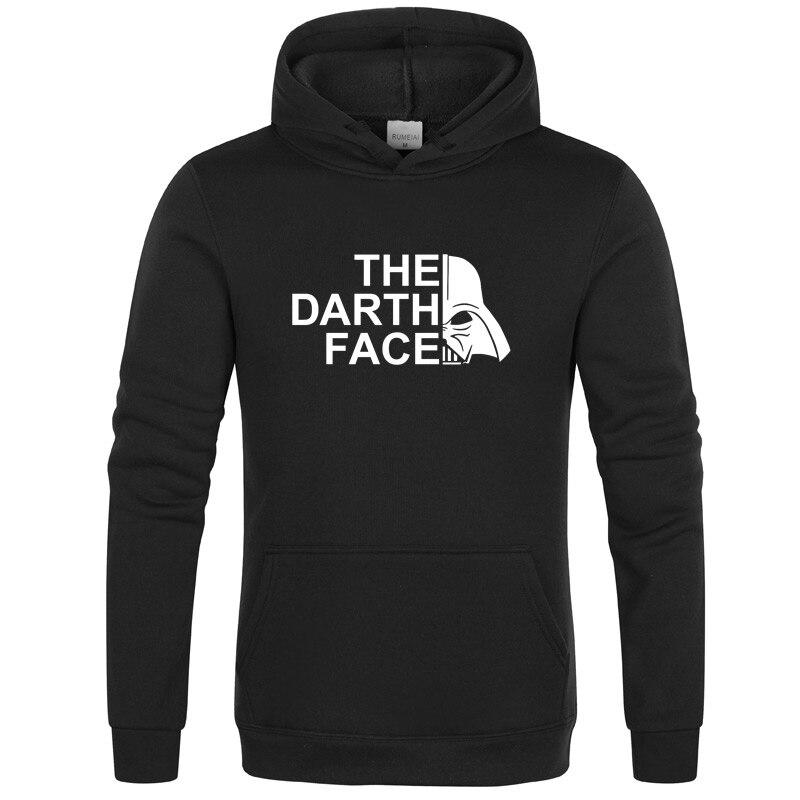 Star Wars Darth Face Hoodie Hoodies Sweatshirt Men 2020New Spring Autumn Hooded Faces No Face Streetwear Homme Black Gray Hoody