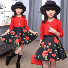 4 6 8 10 12 Years Girls Dresses 2019 New Spring Autumn Children Clothing Girls Floral Princess Dress Casual Kids Party Clothes цена в Москве и Питере