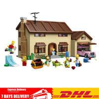 Auf Lager DHL Simpson der familie Kwik-E-Mart Set Bausteine BricksToys Kompatibel Legoinglys 71006 16005 Lustige kinder