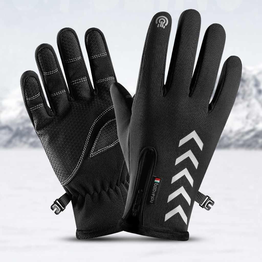 Luvas de esqui quente inverno esportes térmicos à prova dwindproof água à prova vento indução da motocicleta condução caminhadas luvas de indução n2