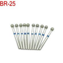 10 sztuk Dental laboratorium wiertła diamentowe wiertła FG 1 6mm dia-burs wiertła do szybka prostnica średni BR-25 tanie tanio Xceldent Diamond+Steel small Blue Medium 806 314 001 524 025 For dental use only