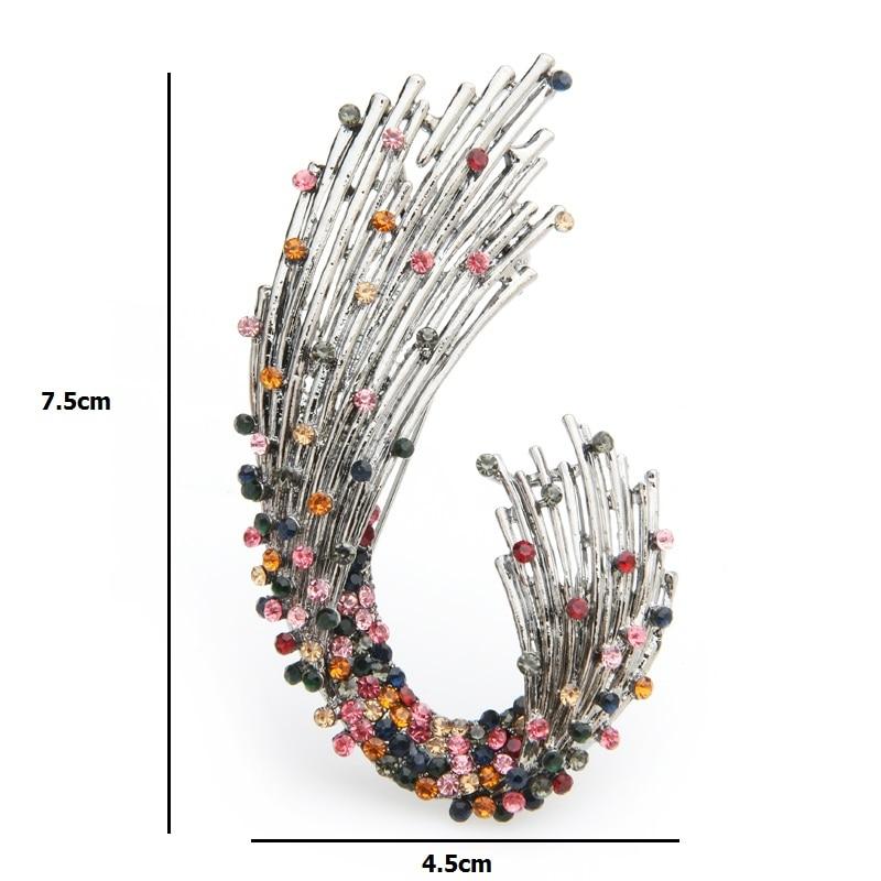 Multicolor Rhinestone Geometric shape Brooches Women Weddings Brooch Pins Gifts CLOVER JEWELLERY